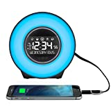LA Crosse Technology Mood Light Alarm Clock with Nature Sounds
