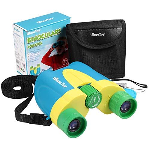 iBaseToy Fernglas für Kinder, 10X25 Shockproof Compact Fernglas Spielzeug für Jungen und Mädchen, Hochauflösendes Fernglas für Vogelbeobachtung, Jagd, Wandern, Camping & Konzerte