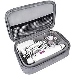Medisana MP840 Set de manicura y pedicura, 3 niveles de velocidad, 7 accesorios, con iluminacion LED