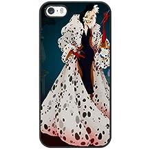 Generic Cell Phone Case for Funda iphone 5 5S SE Black Cruella de Vil 101 Dalmatians I3J1RQ