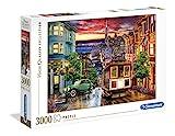 Clementoni Collection Puzzle-San Francisco-3000 Pezzi, Multicolore, 33547