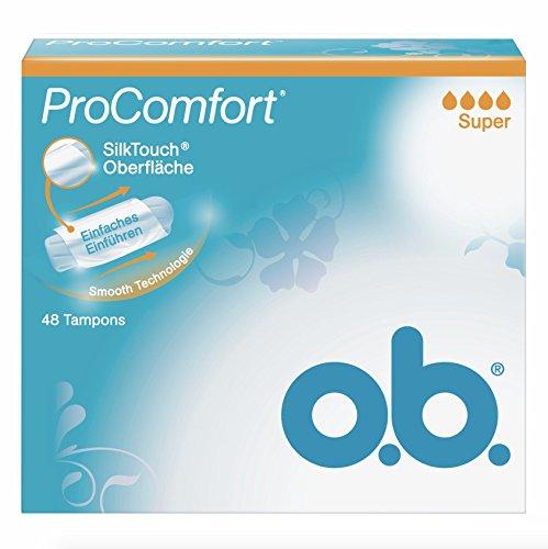o.b. Tampon Pro Comfort Super 48er, 1er Pack (1 x 48 Stück)
