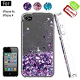 Atump Coque iPhone 4, Coque iPhone 4S avec Protecteur d'écran, Diamant Liquide...