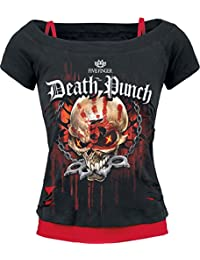 Five Finger Death Punch Assassin Girls Shirt Black-red