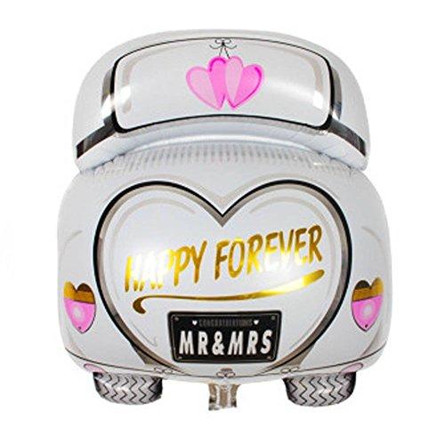 uyhghjhb Car Love Heart Pattern Foil Balloon Party Cumpleaños Aniversario Decoración de la Boda
