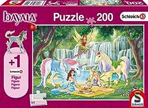 Schmidt Spiele Puzzle 56304Schleich-bayala, Picnic de Hadas, 200Piezas Niño Rompecabezas, Figura eyelas König Potro