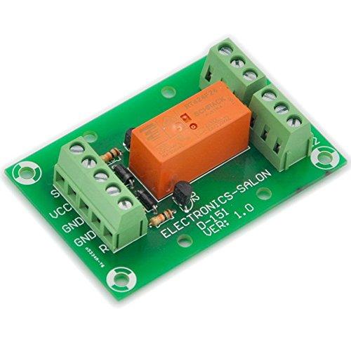 Electronics-Salon Module de relais de puissance DPDT bistable / verrouillable de 8 ampères, bobine DC24V, RT424F24