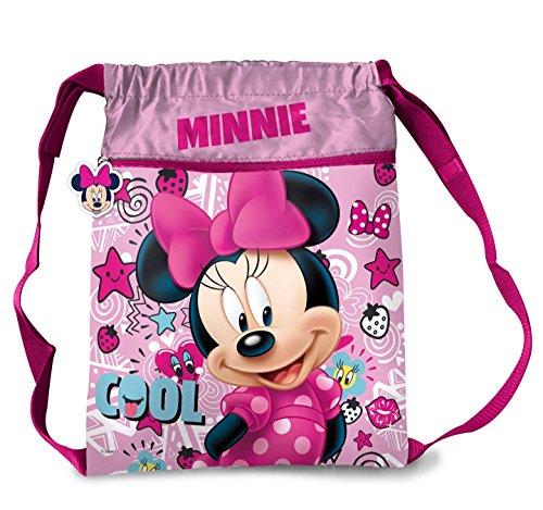 Star Licensing Disney Minnie Maus Turnbeutel mit Kordelzug Kinderrucksack, mehrfarbig (mehrfarbig) - 44809 (Star Kordelzug)