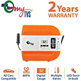 myTVS Digital Auto Cut Off Ultra Fast Tyre Inflator with in-Built LED Torch