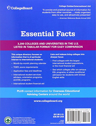 International Student Handbook 2015 (International Studend Handbook of U.S. Colleges)