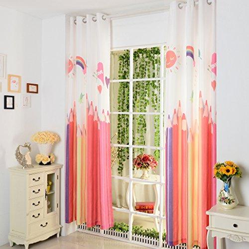 Mädchen Zimmer Gardine für Kinderzimmer Schlafzimmer 1er-Pack (Tür Curtian)