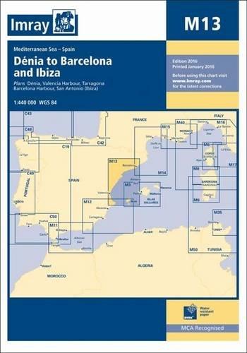 Imray Chart M13: Denia to Barcelona and Ibiza por Imray