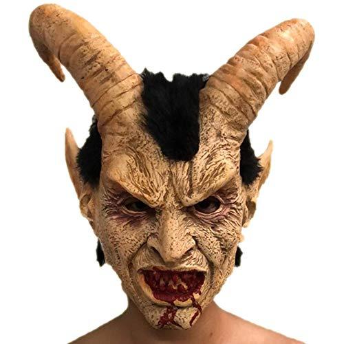 Der Kostüm Tier Club - KSLD Scary Dämon Teufel Horn Latex Masken Halloween Film Cosplay Dekoration Festival Party Supply Requisiten Für Erwachsene Schrecklich