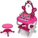 deAO Tabella Di Trucco Con Specchio, Piano E Cassetto Per Gli Accessori - Principessa Specchio
