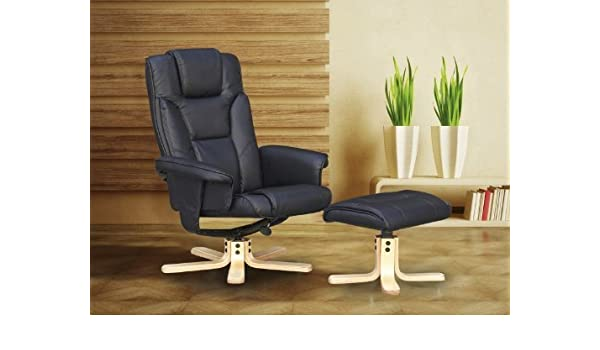 Fantastic Right Deals Uk Boston Recliner Chair Footstool Black Brown Gamerscity Chair Design For Home Gamerscityorg