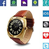 Banaus® B3 IP53 Waterproof Sport Fashion Smartwatch with Heart Rate Monitor Bluetooth 4.0 for Samsung S4/S5/S6/S7/Note3/Note4/Note5/Note6 Sony LG Xiaomi Huawei ZUK for iPhone 5/5C/5S/6/6S Gold