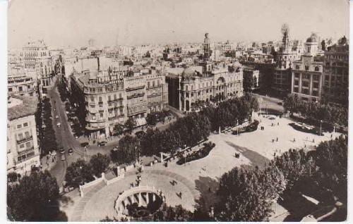 Antigua Postal - Old Postcard : VALENCIA - Plaza del Caudillo