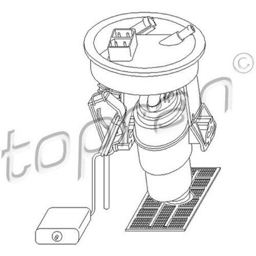 Preisvergleich Produktbild TOPRAN Kraftstoffpumpe,  500 822