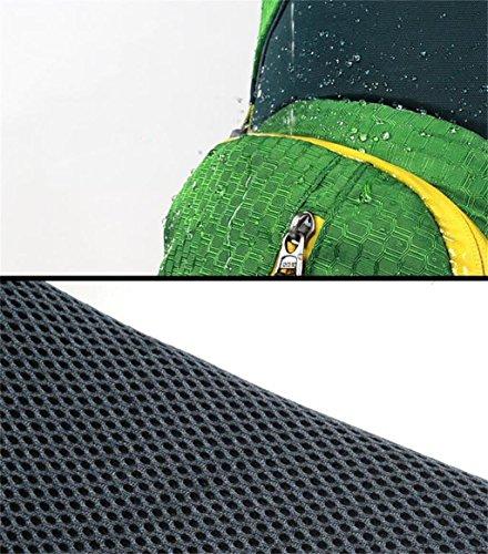 borsa a tracolla alpinismo all'aperto borsa da viaggio zaino uomini e donne pacchetti trekking impermeabile di viaggio di campeggio 45L + 10L ( Colore : Grigio , dimensioni : 45+10L ) Verde