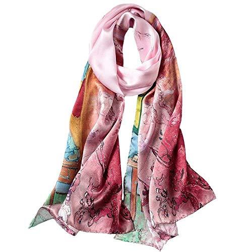 Qysser Frauenschals, Seidendrucke, Lange Absätze, Frühling und Herbst, Multifunktions, Schals,Vier,175 * 52 cm