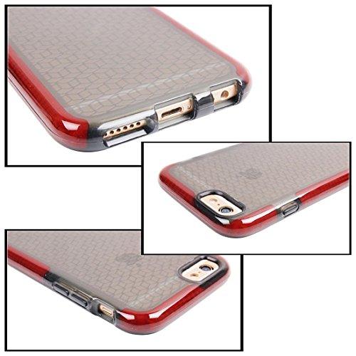 Wkae Case Cover Für iPhone 6 &6s Tridimensional Diamant-Muster-TPU-Schutzhülle ( Color : White ) Red