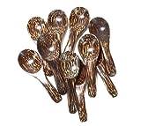 "Lot of 10 Pcs. X 3.0"" Palm Wood Small Spoons Sugar Seasoning Salt Spoons"