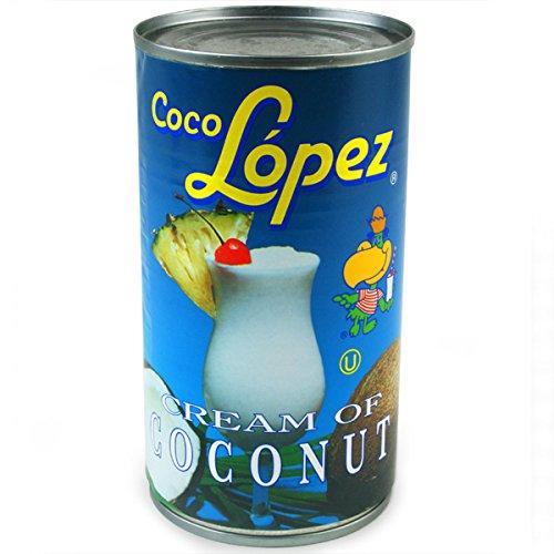 Coco Lopez Coconut Creme Dosen 425g?Set von 6| Echt creme der Kokosnuss?Pina Colada Cocktail Mixer