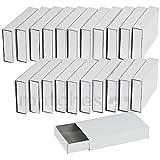 matches21 Adventskalender Schachteln / große Streichholzschachteln zum Basteln & Selbstgestalten 24 Stk. ca. 11x6x2 cm weiß unbedruckt