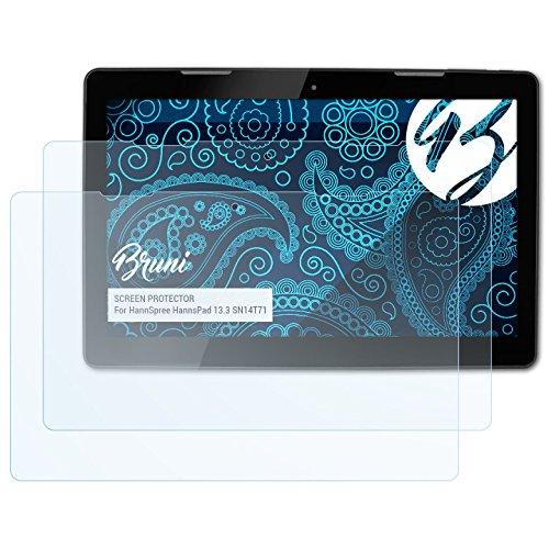 Bruni Schutzfolie für HannSpree HannsPad 13.3 SN14T71 Folie, glasklare Displayschutzfolie (2X)