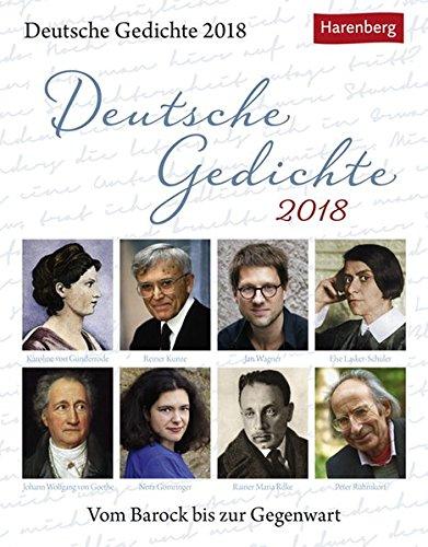 Deutsche Gedichte - Kalender 2018: Vom Barock bis zur Gegenwart