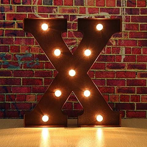30 * 5 CM LED Alphabet Lichter Birne, A-Z Metall