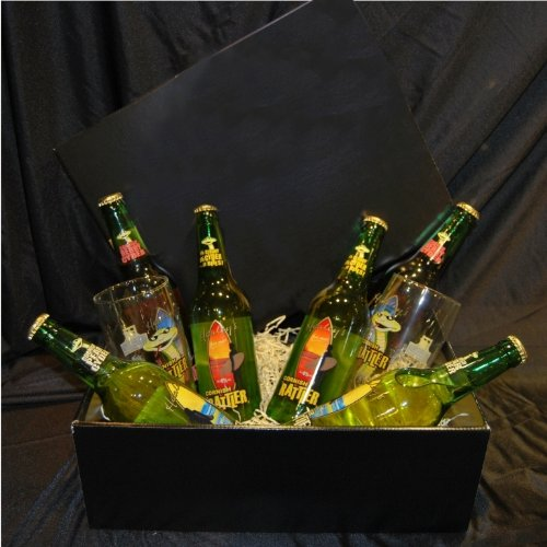 Simply Cornish Rattler Cider Hamper In A Black Gift Box