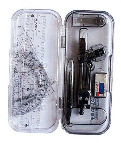 AH1217 Study Compass und Geometrie-Set, 8-teiliges Sortiment mit Splitter Box / w Automatischer Bleistift nachfüllbar