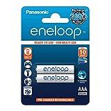 Panasonic eneloop, Ready-to-Use Ni-MH Akku, AAA Micro, 2er Pack, min. 750 mAh, 2100 Ladezyklen, starke Leistung und geringe Selbstentladung, wiederaufladbare Akku Batterie, Akkubatterie