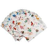 Generic 50x Wasserdicht Wachspapier Bonbonpapier Lebensmittel Geschenkpapier - Weihnachten, 9 x 12,5 cm