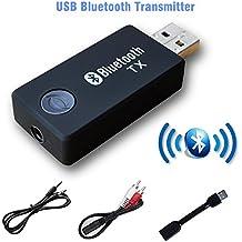 Transmisor Bluetooth inalámbrico, Música en estéreo, streaming, video, conecto USB adaptador para audio, Transmisor y receptor para coche, TV, ordenador, Home cinema URANT