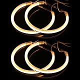 4x FL Angel Eye Auto LED Amber Standlicht Ringe 4W Frontlicht Autolichte Fahrzeug Leuchte Scheinwerferlampe Für E46 E39 E36