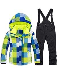 Keamallltd Kids Ski Suit Niños a Prueba de Viento Niñas Coloridas para niño  Snowboard Snow Jacket y Pantalones… d4daab0d560