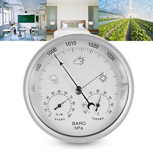 Tutoy 132Mm Pared Colgante Portátil Temperatura Humedad Barómetro Medidor De Tiempo