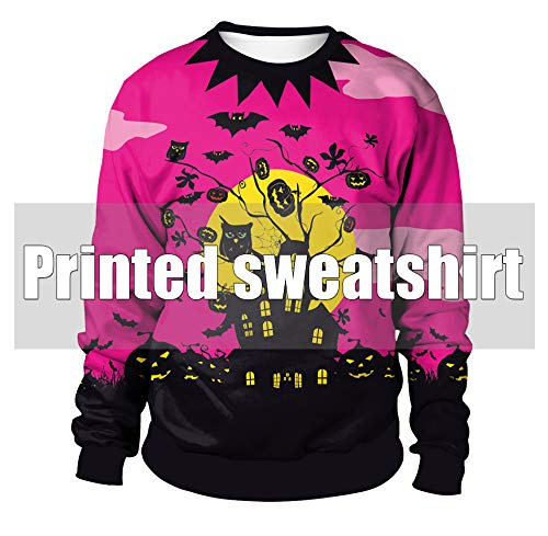 GAX Halloween Sweater, Halloween Sweater Party Dress Up Horror-Kleidung, Halloween-Straße Family Party-Kostüm,Pattern2,XXL
