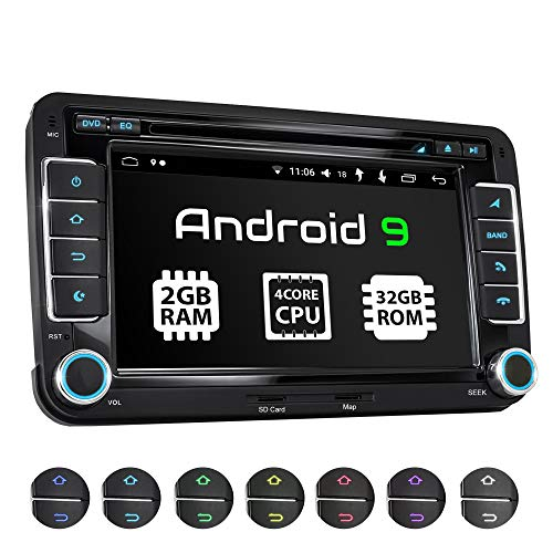 XOMAX XM-10GA Radio de Coche con Android 9 Adecuado para VW Seat Skoda I 4Core,...