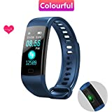 Fitness Tracker, Skyward Ecommerce Color Screen Activity Tracker with Heart Rate/Sleep Monitor, IP67 Waterproof Smart Band with Sedentary Reminder, Blood Pressure/Oxygen, Step, Calorie Counter Watch for Kids, Women and Men, Android & IOS (Black)