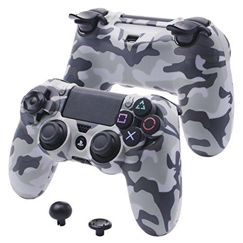 YoRHa SUPER individualisieren Harter Beschützer Hülle Schale Fall Abdeckung für Sony PS4/slim/Pro controller (Tarnung grau)