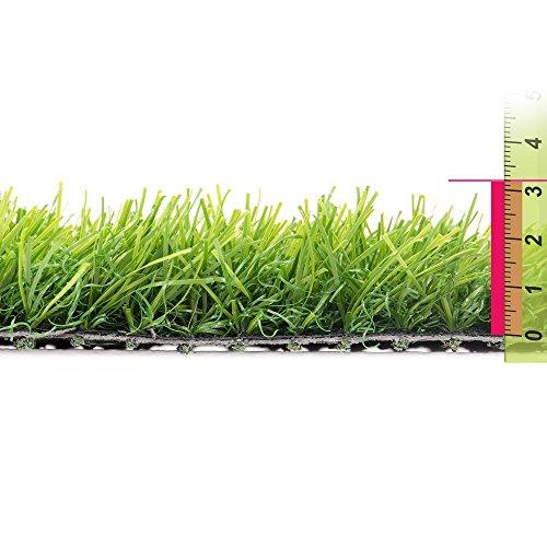 Ldk Garden Lola Derek - Césped artificial extra para terraza, 400 x 100 x 32 cm, color verde