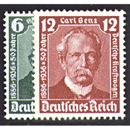 Goldhahn Deutsches Reich Nr. 604-605 gestempelt Daimler und Benz 1936 Briefmarken für Sammler