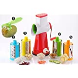 5 In 1 Drum Grater Shredder Slicer For Vegetable,Fruit,Chocolate,Dry Fruits,Salad Maker With 4 Attractive Drums And 1