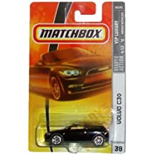 Mattel Matchbox 2007 MBX VIP Luxury 1:64 Scale Die Cast Metal Car # 38 - Black Sports Coupe 4 Seat 3 Door Hatchback VOLVO C30