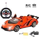 MousePotato 1:16 Lamborghini Style Sports Racing Car, Orange