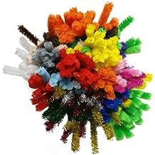Bastelbär limpiadores de pipa- 200 limpiapipas incluido colores destellantes