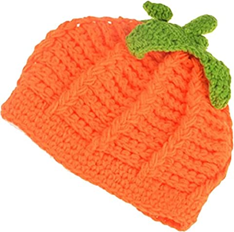 Lamaara® Baby Photography Clothes,Cut Baby Knitting Clothes,Hand made Newborns Hundred days Photography Clothes (Pumpkin cap)